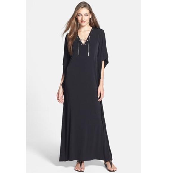 b64ac8f9 MICHAEL Michael Kors Chain Lace Up Maxi Dress. M_5ad905729cc7efe608d38718